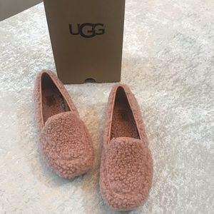 NWT Ugg Hailey Fluff Loafer Pink Size 8 & 9